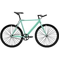 Bicicleta de Pista Critical Cycles Classic Fixed-Gear de una Sola Velocidad con Barras de Bullhorn Pursuy, Negro Mate, 43 cm/XS
