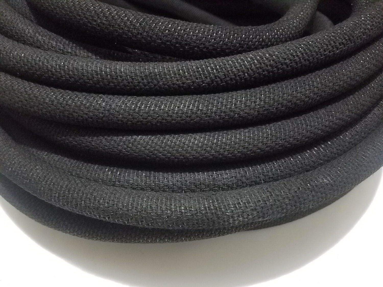 "ASPHALT CLOTH WIRE LOOM ORIGINAL RESTORATION CONDUIT VINTAGE 10 feet 9//16/"" I.D"