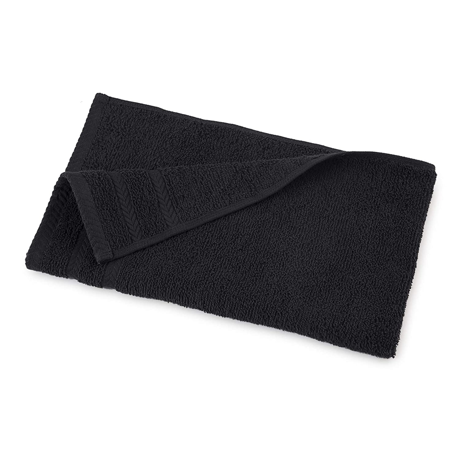 Jet Black Martex Egyptian Cotton with Dryfast Hand Towel