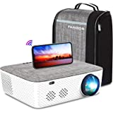 5G WiFi Projector 4K Supported - FANGOR 8500L Native 1080P Projector Bluetooth Outdoor Movie Projector / Full Sealed Design/D