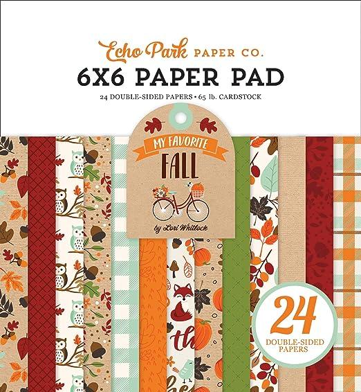 negro color naranja verde rojo Papel de lija marr/ón claro verde azulado 15,2 x 15,2 cm Echo Park Paper Company MFF187023 My Favorite Fall