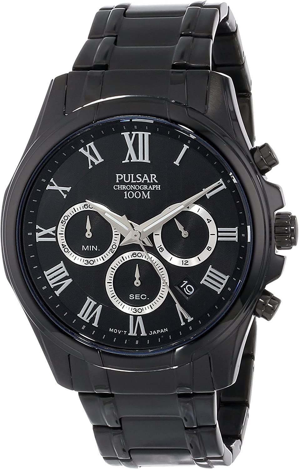 Pulsar Men s PT3401 Analog Display Japanese Quartz Black Watch