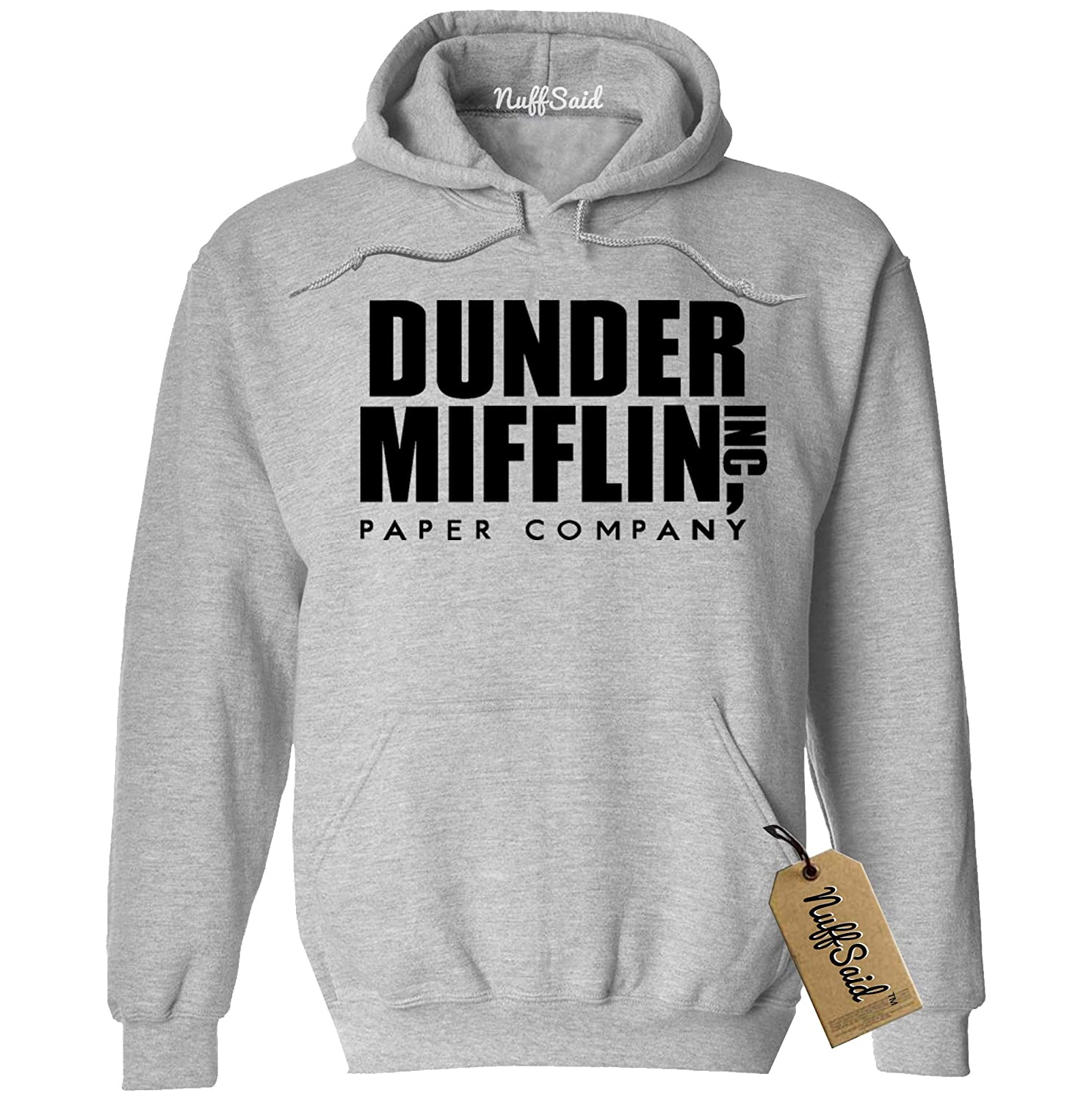 NuffSaid Dunder Mifflin Hooded Sweatshirt Sweater Hoodie - Premium Quality TV Shirt Sweatshirt