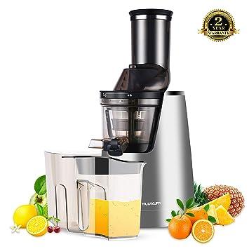 Tiluxury Licuadora Exprimidor De Frutas y Verduras,Slow Juicer - Exprimidor eléctrico,Exprimidor para frutas y verduras Prensa, frutas, verduras, ...