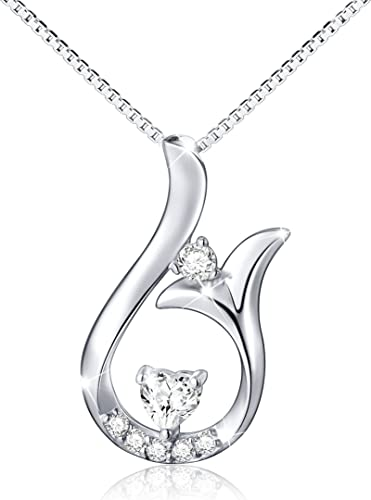 Sterling Silver Womens 1mm Box Chain Open Heeled GOOD LUCK Horseshoe Pendant Necklace