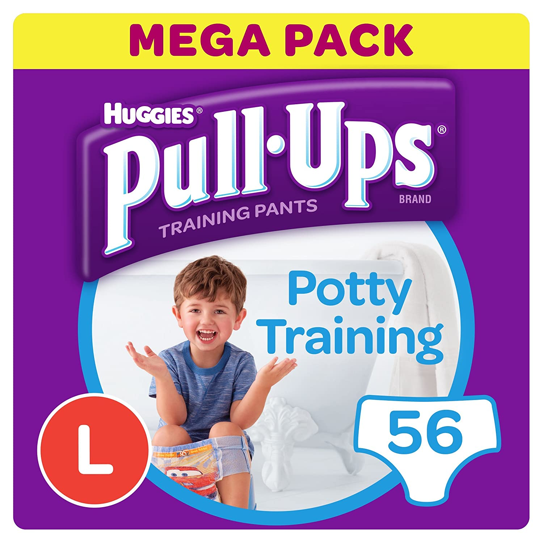 Huggies Pull-Ups Couches Culottes d'apprentissage pour garçon, grande, Lot de 4 Kimberly-Clark 2813411