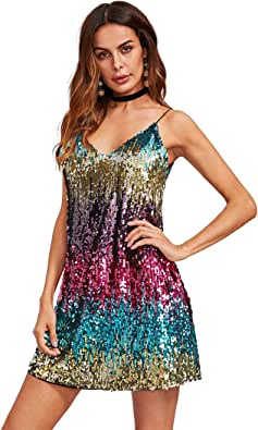 Verdusa Women's Sexy Sleeveless Fit Flare Loose Party Clubwear Dress