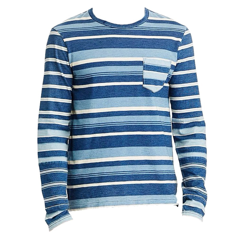 Polo Ralph Lauren Men's Custom-Fit Striped Long Sleeve T-Shirt (Navy, XX-Large) by Polo Ralph Lauren