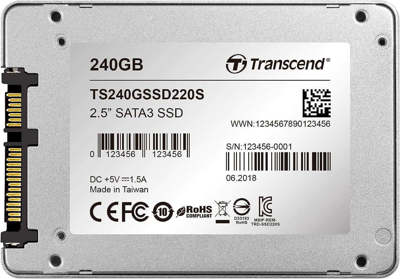 Transcend SSD220S - Disco duro sólido Interno de 240 GB (SATA III ...