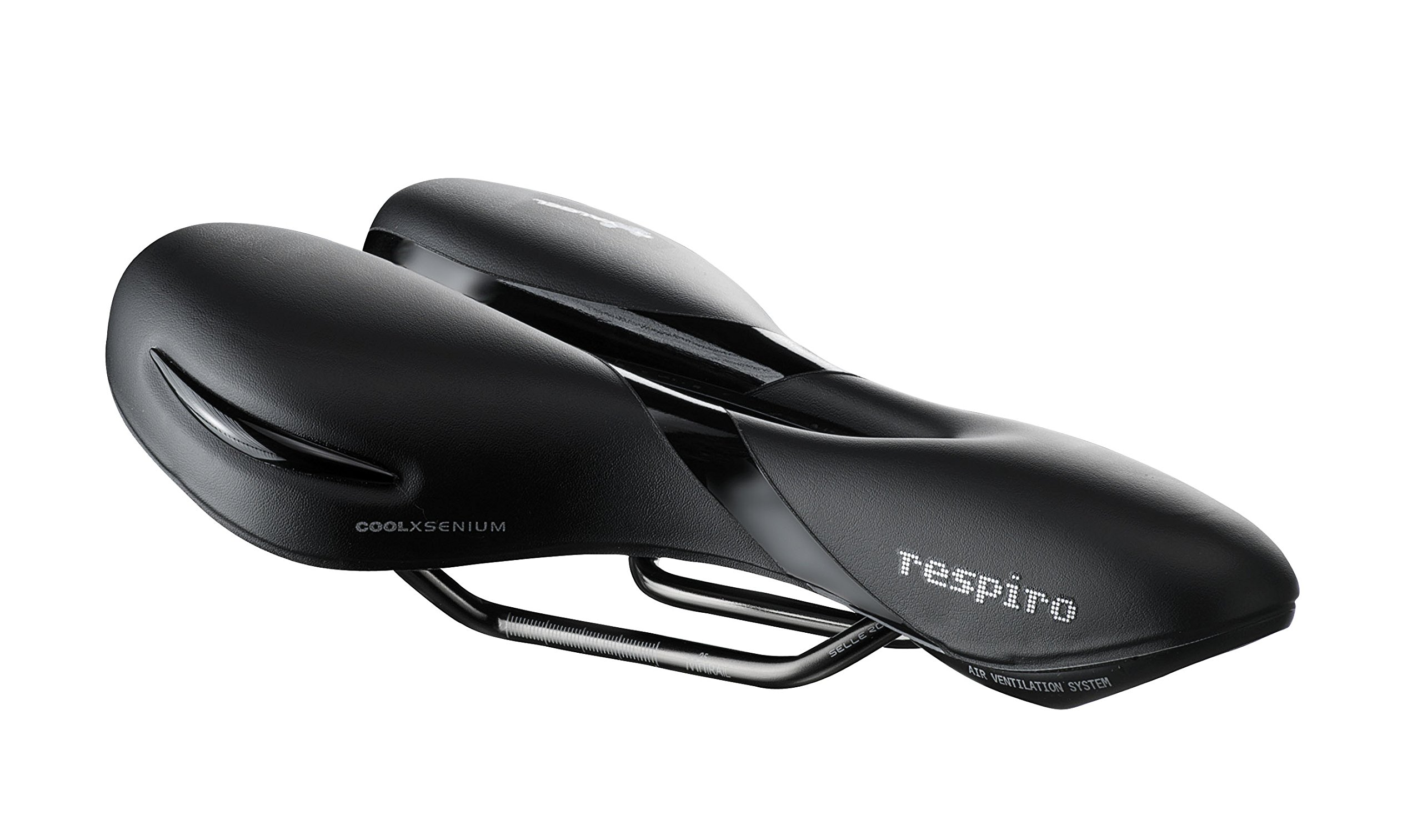 Selle Royal Respiro Soft Athletic Bike Saddle - RoyalGel Cushion with Foam Matrix and Water Resistant Cool Cover Protection by Selle Royal