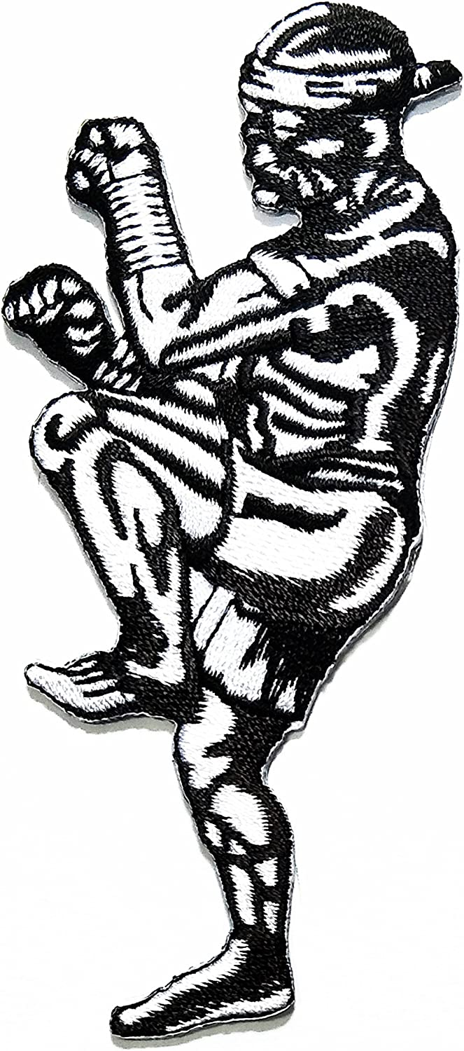 4pcs MUAY THAI  Embroidered IRON ON SEW ON PATCH FABRIC CRAFT 02