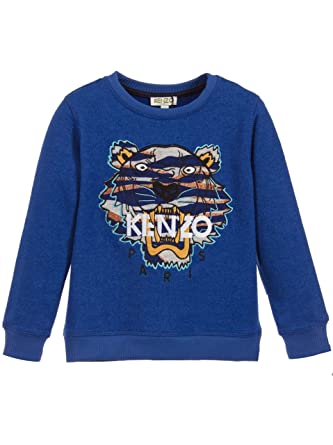 e30bdae77c40fe Kenzo Kids Sweat-Shirt Tigre Bleu Vif 43: Amazon.fr: Vêtements et  accessoires
