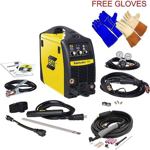 Esab Fabricator 141i Welding Machine w// TIG Torch W4013802 Welding /& Tig Gloves
