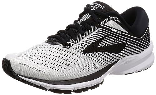 150411a1678 Brooks Men s Launch 5 Black White Running Shoes-8 UK India (42 EU ...