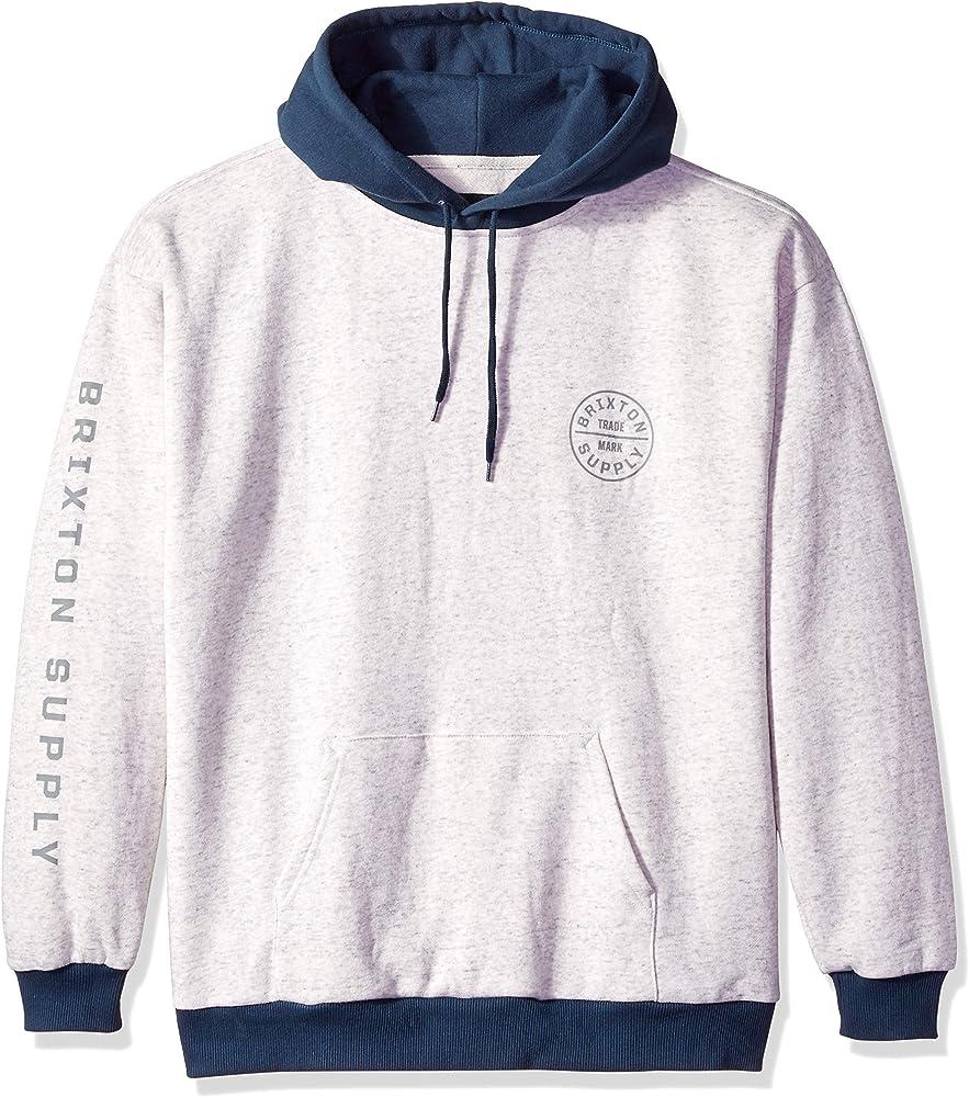 ba156ef33b Amazon.com: Brixton Men's Oath II Relaxed Standard Fit Hood Fleece ...