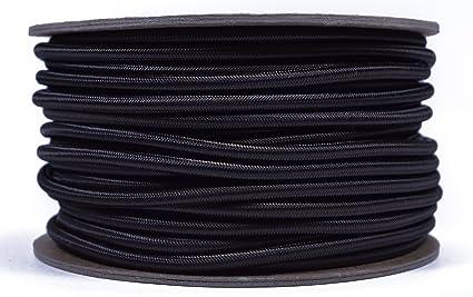 "USA 1//8/"" x 100/' Bungee Cord Shock Cord Bungie Cord Marine Grade Stretch Cord BLK"