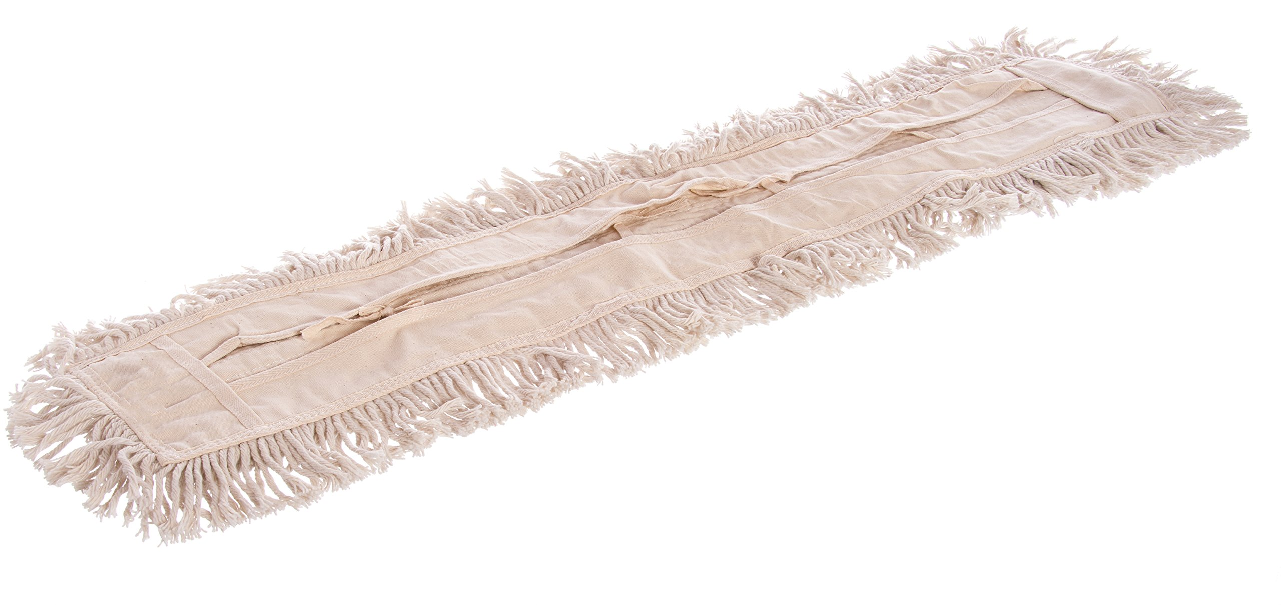 Carlisle 364753600 Flo-Pac Cotton Tie Back Dust Mop, 36'' Length x 5'' Width, Natural (Pack of 12) by Carlisle (Image #2)