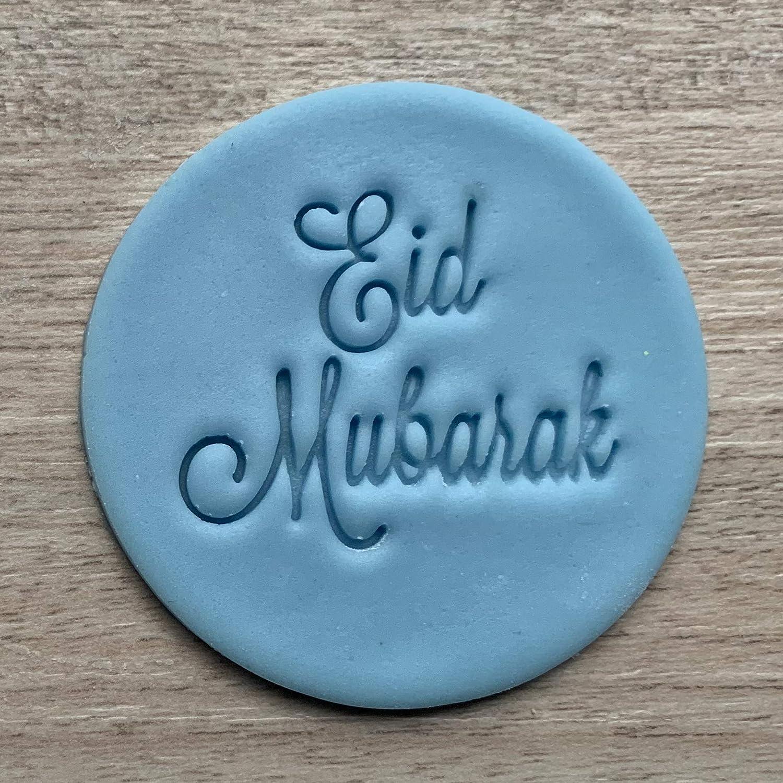 Amazon Com Eid Mubarak Fondant Embosser Or عيد مبارك Cookie Stamp Icing Frosting Biscuit Stamp Handmade