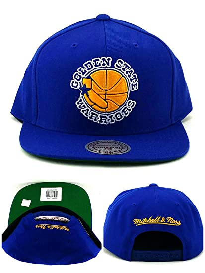 33512b7778b Image Unavailable. Image not available for. Color  Golden State Warriors  NBA Mitchell   Ness Solid Hardwood Classics Adjustable Snapback Hat
