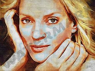 SANDRA BULLOCK ART PRINT POSTER OIL PAINTING LFF0175