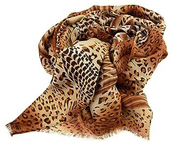 nails-beauty24 Envío - Pañuelo de mujer (A515), modo de mujer, marrón Beige Negro, Animal Print, ropa, bufanda de mujer, mujer toalla: Amazon.es: Belleza