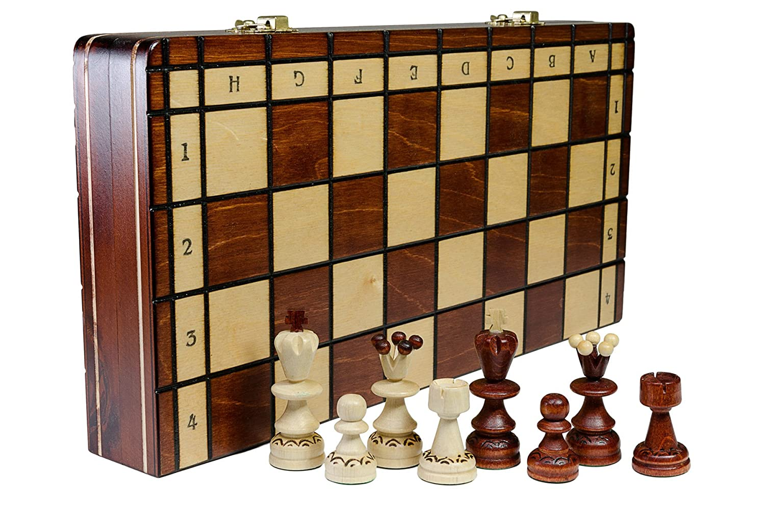 35cm PEARL DELUXE 14in Handcrafted Wooden Chess Set