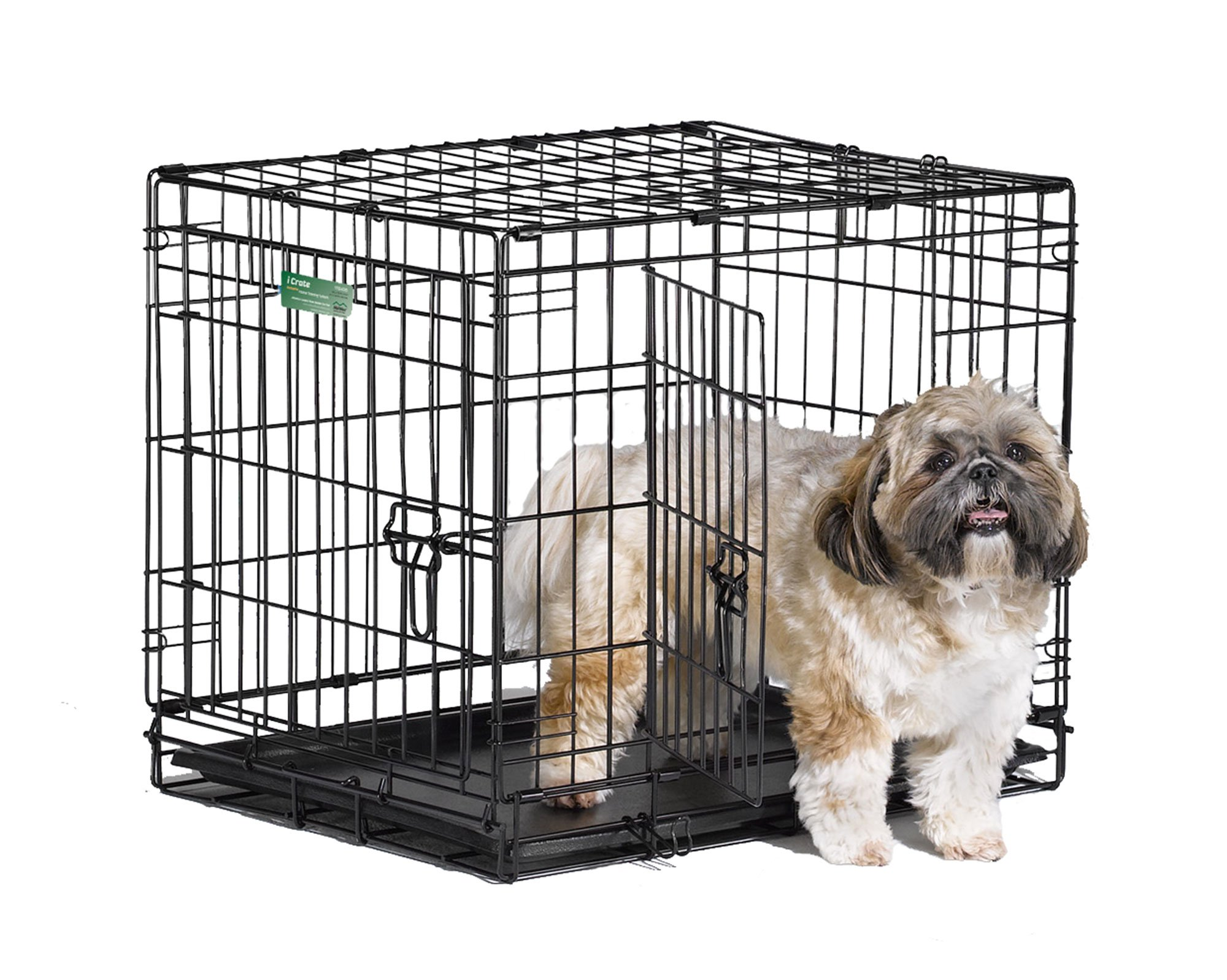 Midwest Icrate Folding Metal Dog Crate Double Door 24 Inch