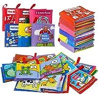 Lumiparty Cloth Book, libri Soft Learning & Education, Fabric Discovery Books for Newborn, Giocattoli educativi per neonati e bambini, Set di 6