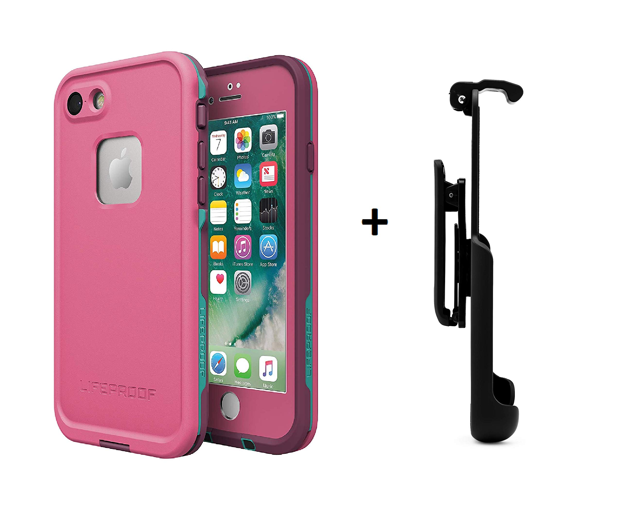 LifeProof FRÄ' Series Waterproof Case for iPhone 7 (ONLY) not Plus - Retail Packaging - (Twilight + Gear Pro Belt Clip) by LifeProof