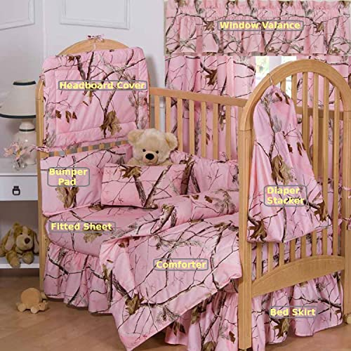 Realtree Pink Camo 7 Piece Baby Crib Set – Gift Set, Save By Bundling