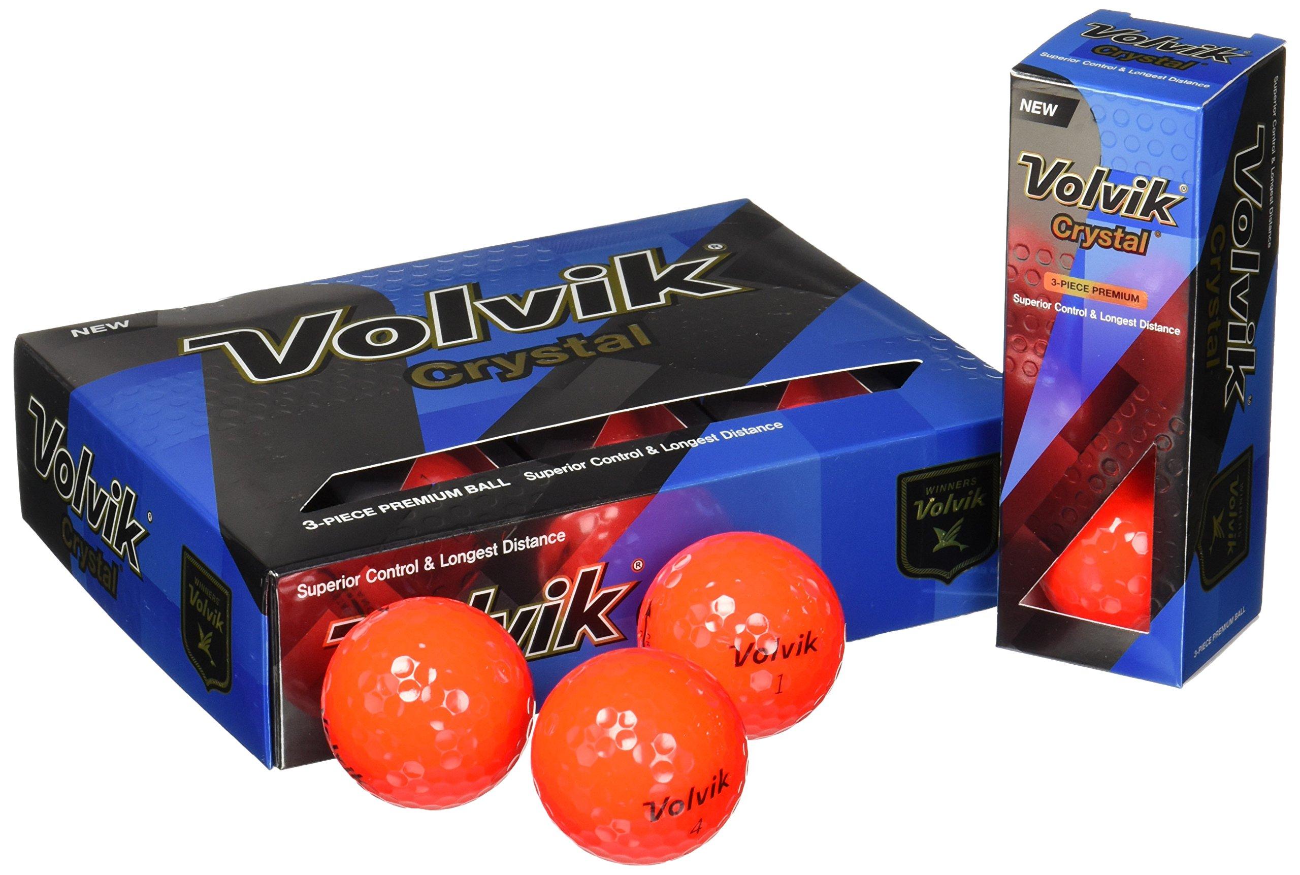Volvik 2016 Golf Balls (Dozen), Crystal Ruby by Volvik