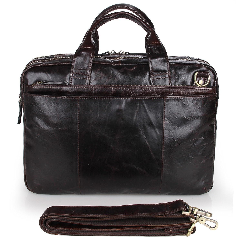 AB Earth Malette pour Homme en Cuir Véritable sac d'ordinateur portable sac de messager, M36 (café noir) M295Darkcoffee