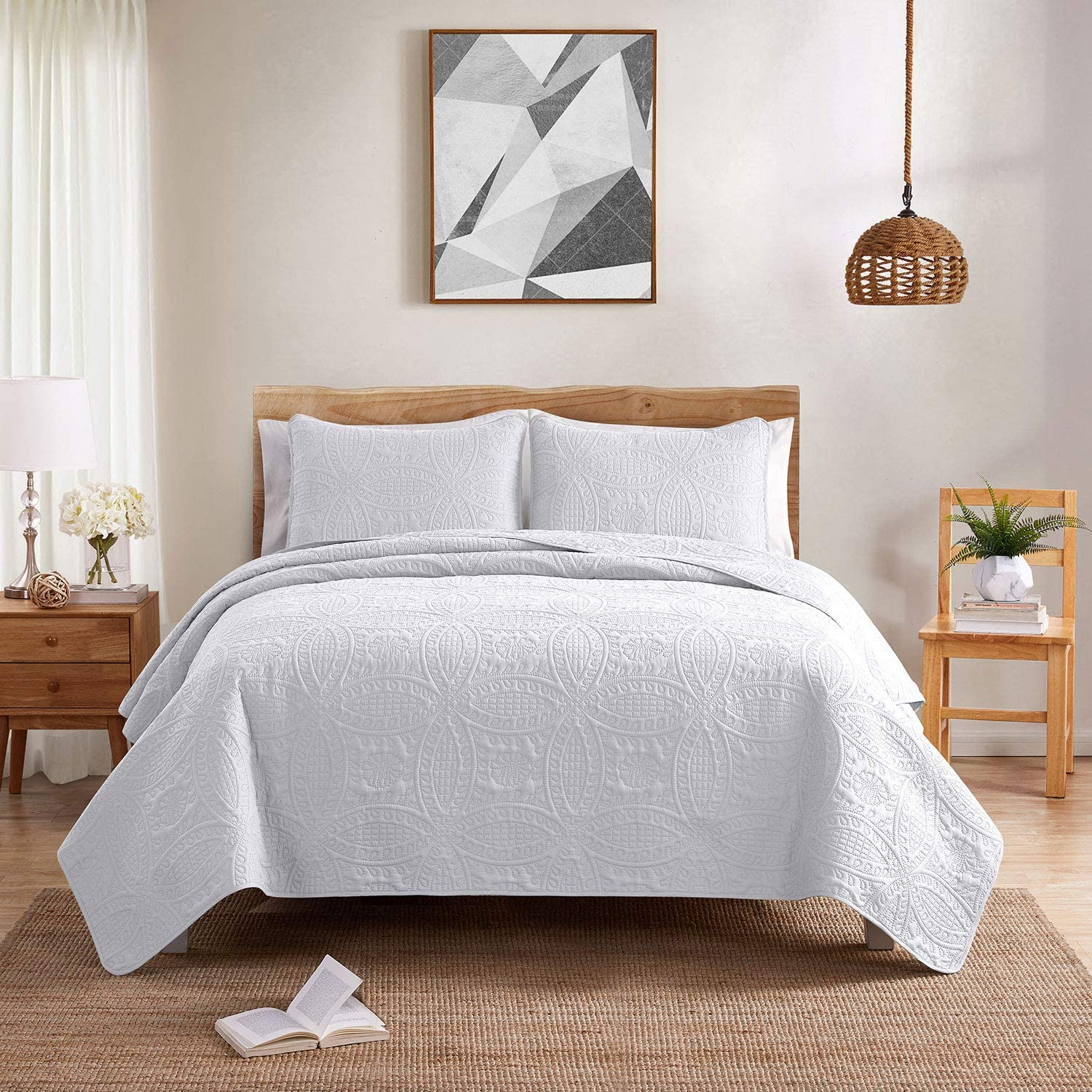 Country Club Embossed Quilted Bedspread Set Cream 240x260cm Amazon Co Uk Kitchen Home