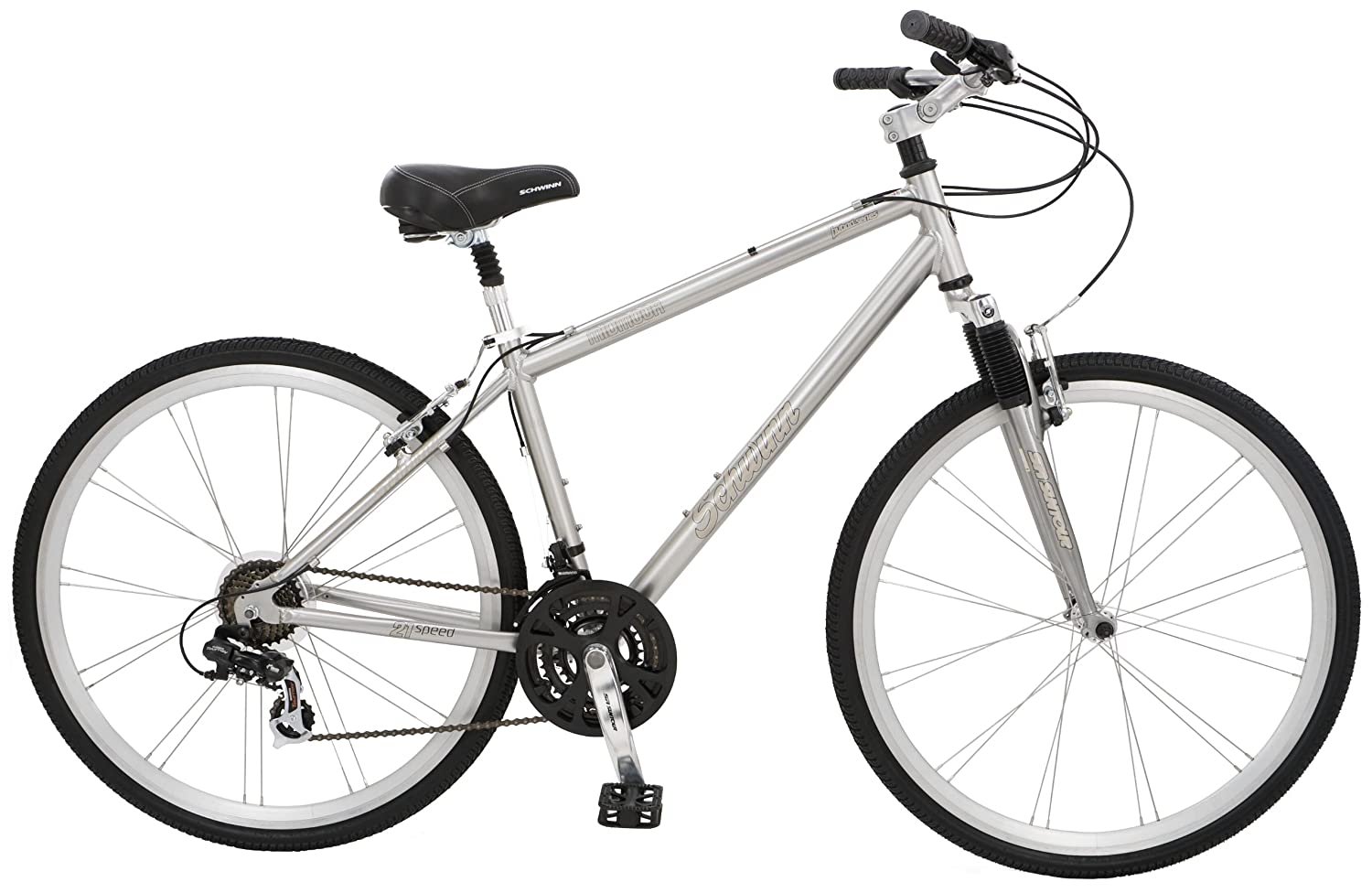 Amazon.com : Schwinn Midmoor Men\'s Hybrid Bike (700c Wheels ...