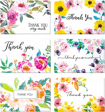 Thank You~Assortment~Small Cards~BLANK~ON~THE~INSIDE~200 count~FANTASTIC