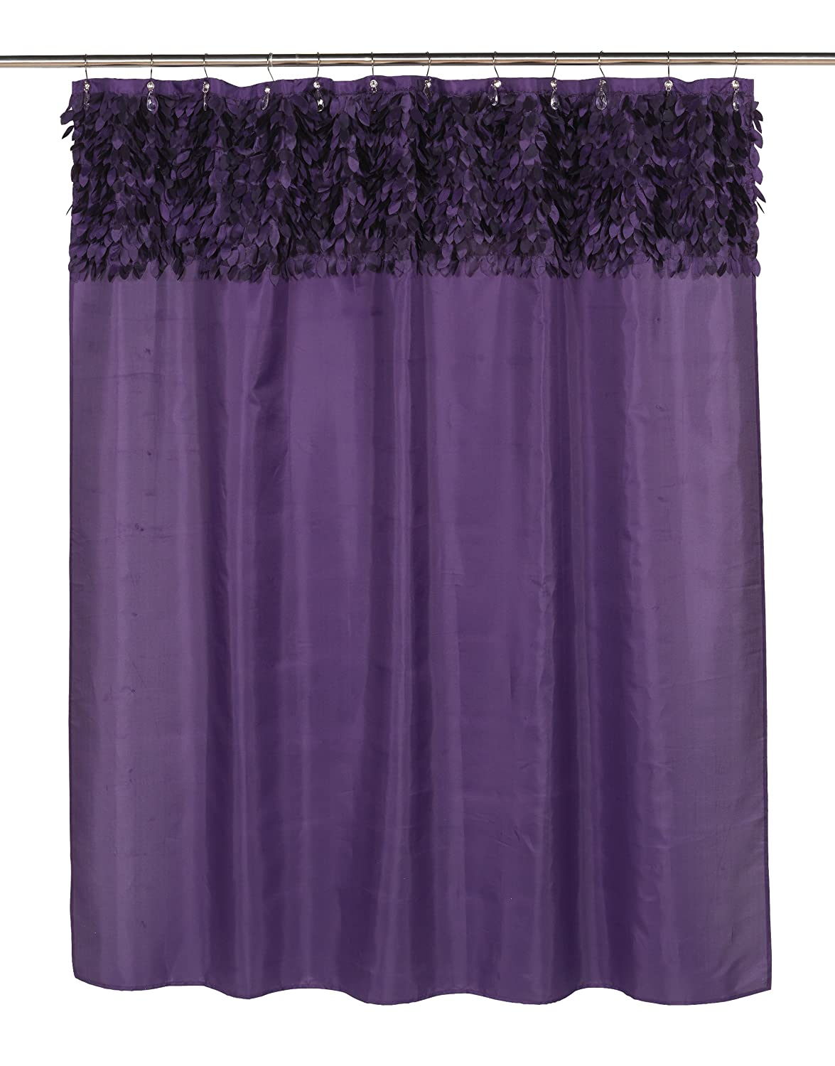 """Jasmine"" Fabric Shower Curtain, Purple"