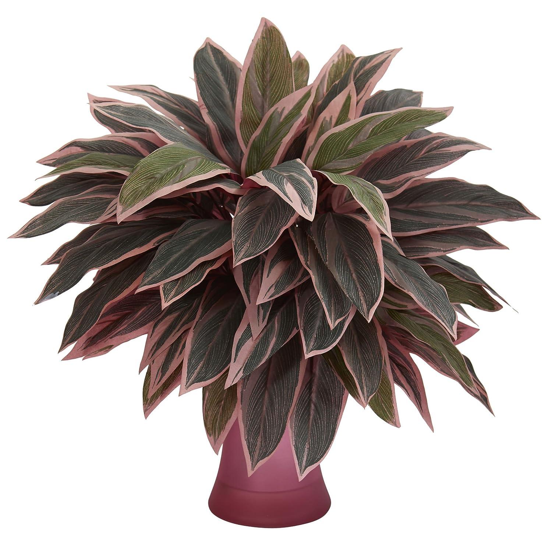 Nearly Natural 8109 Caladium Rose Vase Artificial Plant, Green
