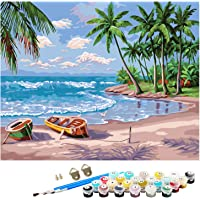 """DIY Paint by Numbers for Kids, Canvas Oil Painting Kit, 16"""" W x 20"""" L Drawing Paintwork with Paintbrushes, Acrylic…"""