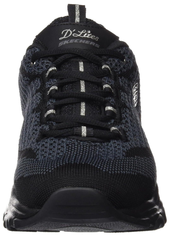 Skechers Women's 7.5 Sport D'Lites Reinvention Sneaker B01IG5H9Y0 7.5 Women's B(M) US|Black Knit 2c15dc