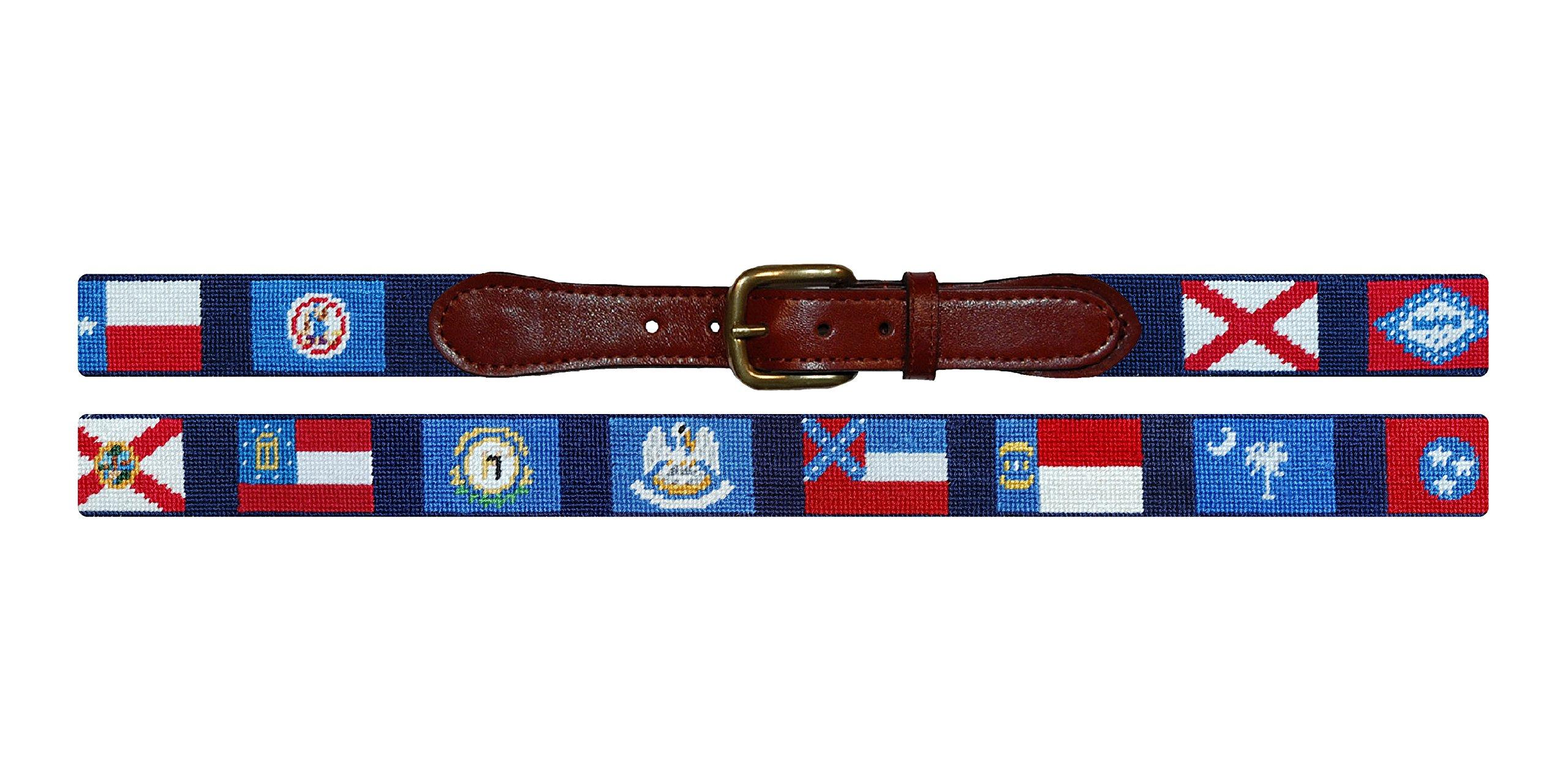Smathers & Branson Southern States Traditional Needlepoint Belt, Size 34 (B-243-34)