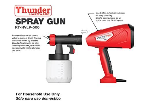 With the best spray gun distance (20~30CM), this Hand held electric spray gun is perfect for the home owner