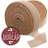 """Burlap Ribbon~4"""" x 100 Yards LONG ~Burlap Roll. Perfect for Weddings, Tie-backs, Sashes, Wreaths, Table Runners, Bows, Gift Wrap, Tree Wrapping, & Crafts! FRINGED & REINFORCED Edges!"""