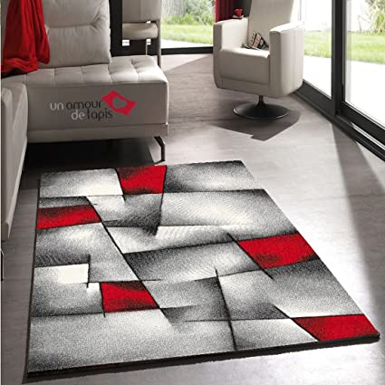 UN AMOUR DE TAPIS Salon Design Brillance Ultimate Rouge ...