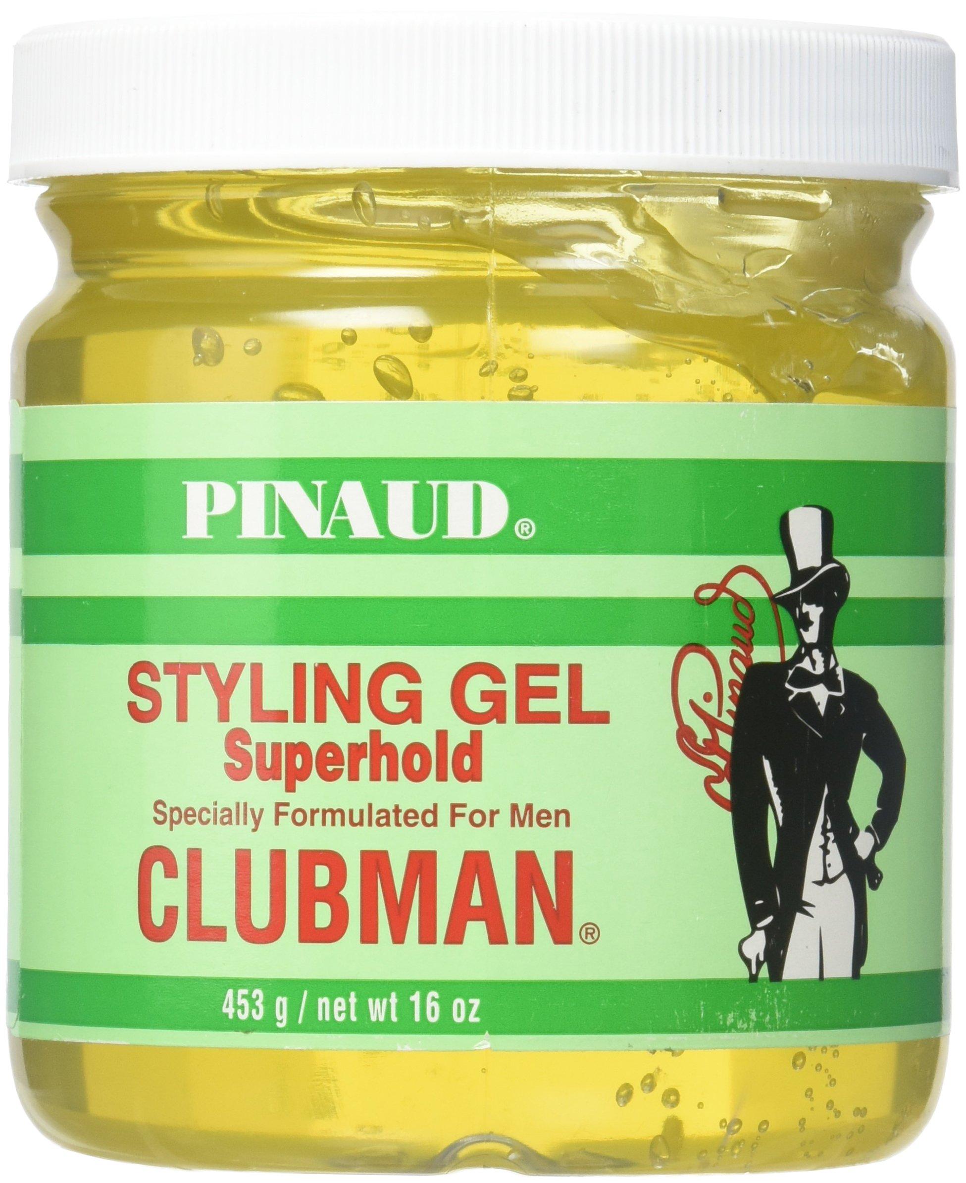Clubman Superhold Styling Gel, 16 oz