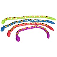 Rhode Island Novelty One Dozen, 15 Inch Jointed Plastic Wiggle Snake Toys