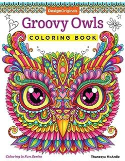 Groovy Owls Coloring Book Is Fun Design Originals