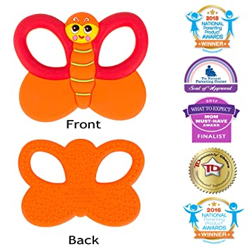 Amazon.com   Silli Chews Baby Teethers Natural Silicone Teething Toy  Butterfly Infant Pain Relief   Baby 3b62364c174b