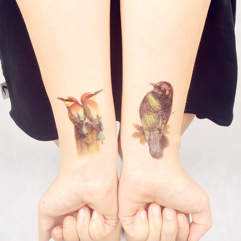 COKOHAPPY Temporales Tatuaje Urraca Pájaro: Amazon.es: Belleza