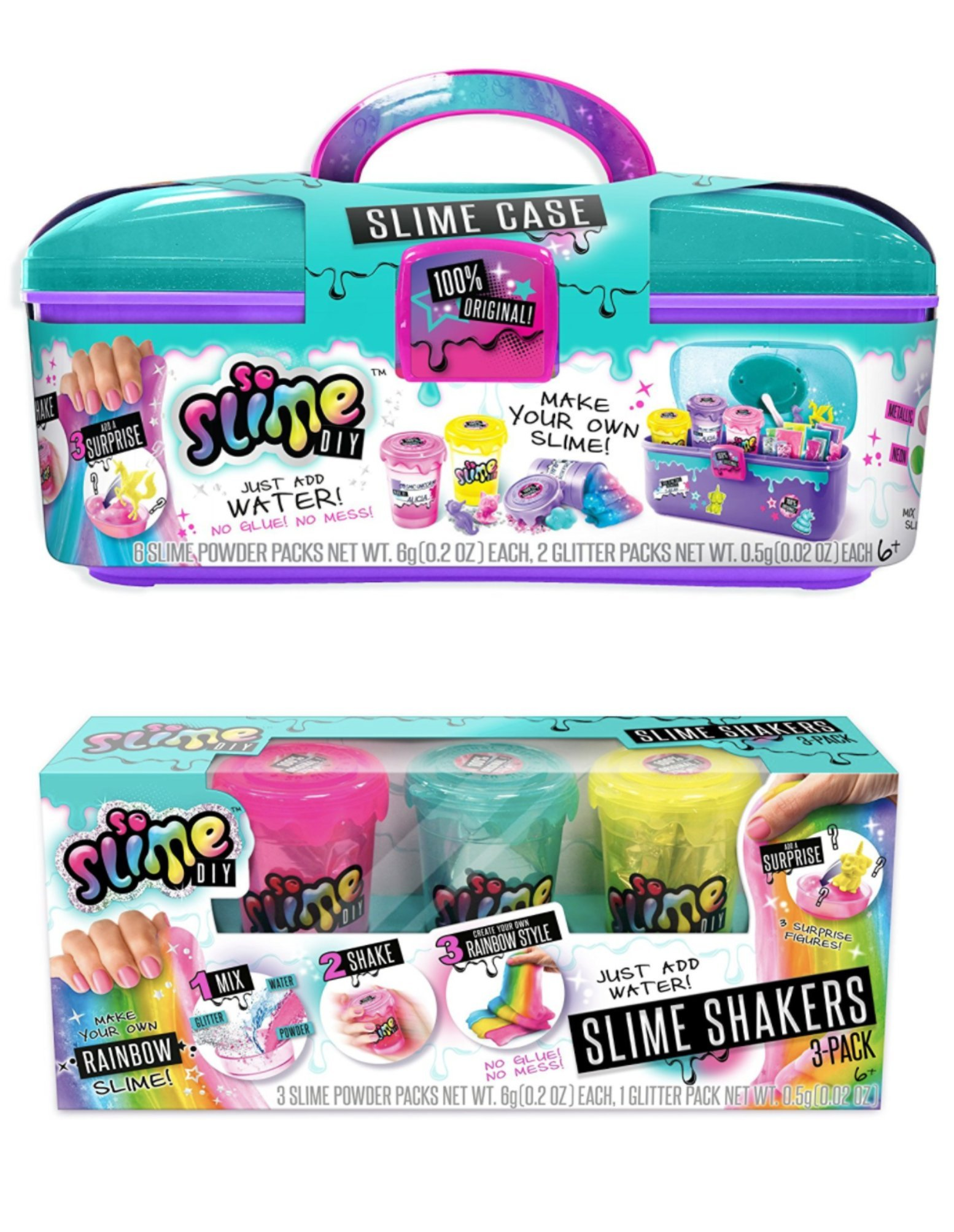 So Slime Storage Case + Rainbow 3 Pack! Make Your Own Slime!