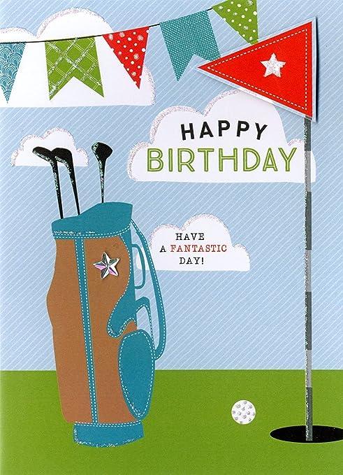 Happy Birthday Golf Greeting Card Second Nature Yours Truly Cards Amazonde Burobedarf Schreibwaren